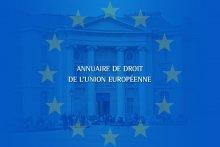 Annuaire de droit de l'Union européenne 2018